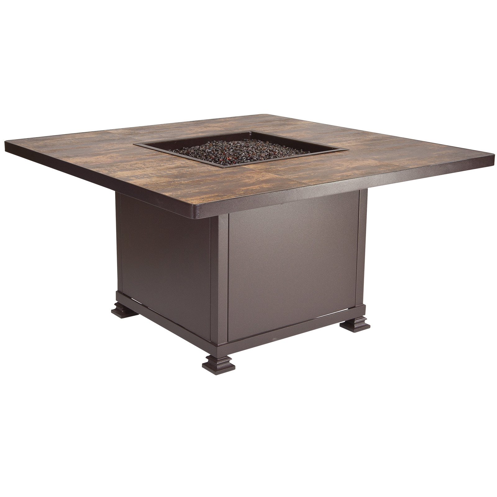 "OW Lee Santorini 42"" Square Chat Height Fire Pit Table - 5110-42SQC"