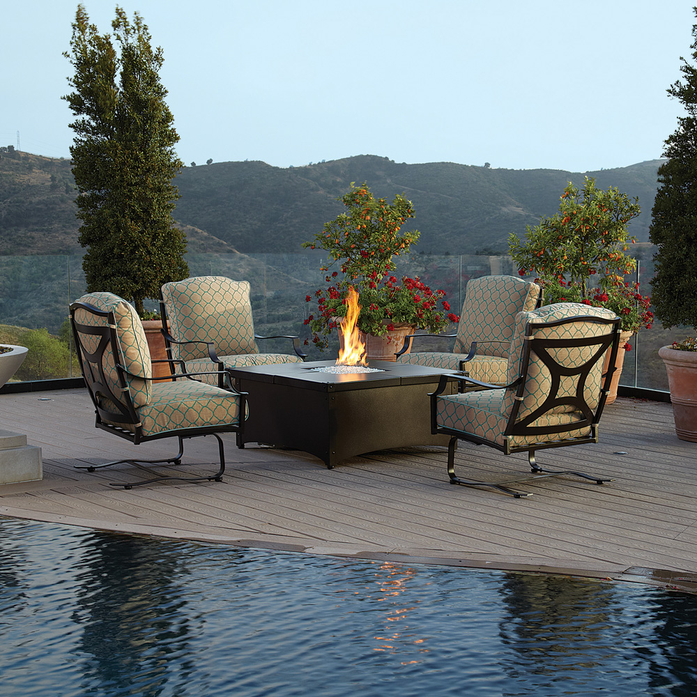 ... OW Lee Aero Fire Pit Table With Madison Collection ...
