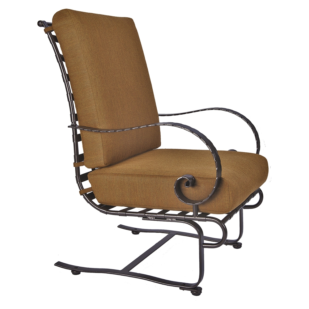 OW Lee Classico-W Hi-Back Spring Base Lounge Chair - 937-SBW