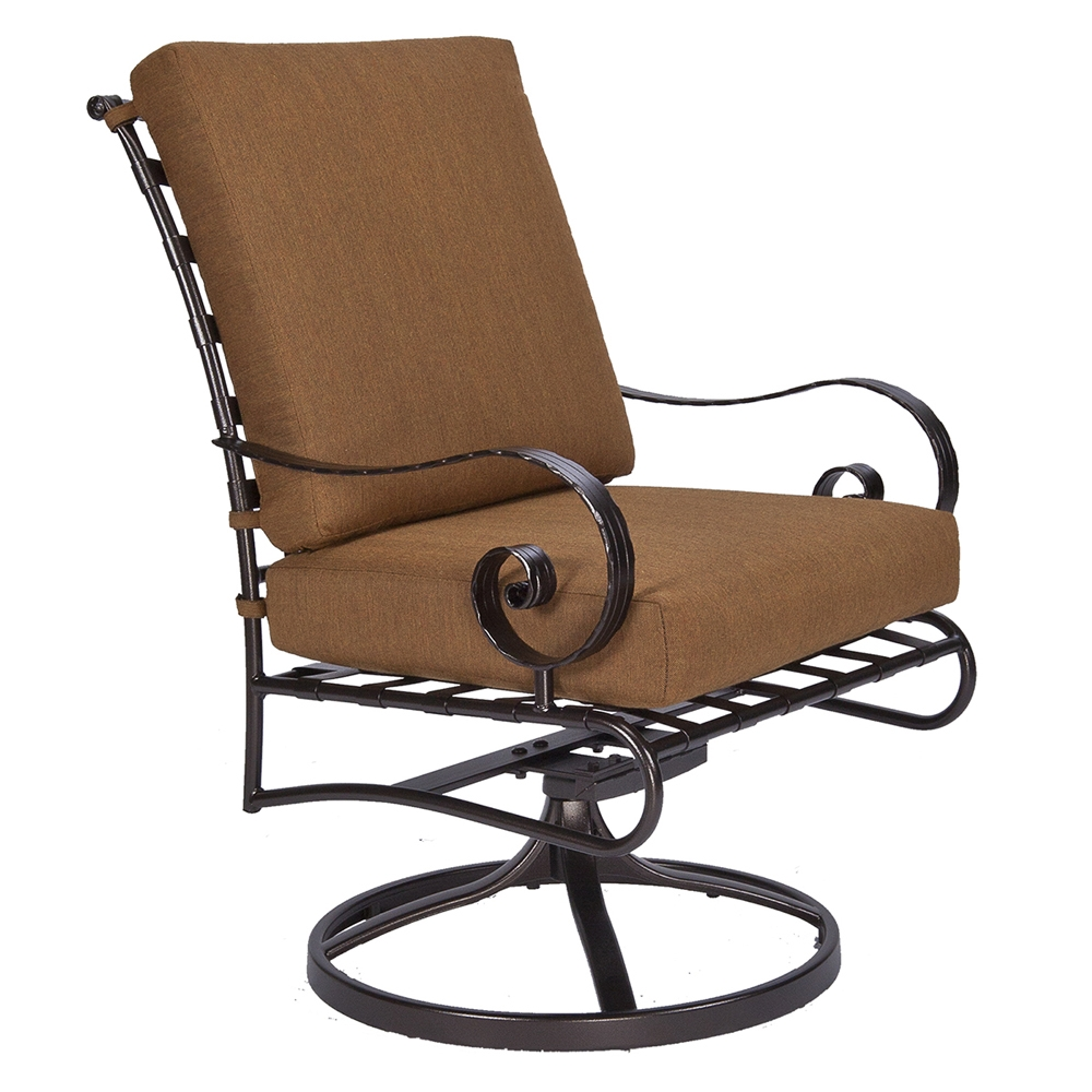 OW Lee Classico-W Club Swivel Rocker Dining Arm Chair - 942-SRW