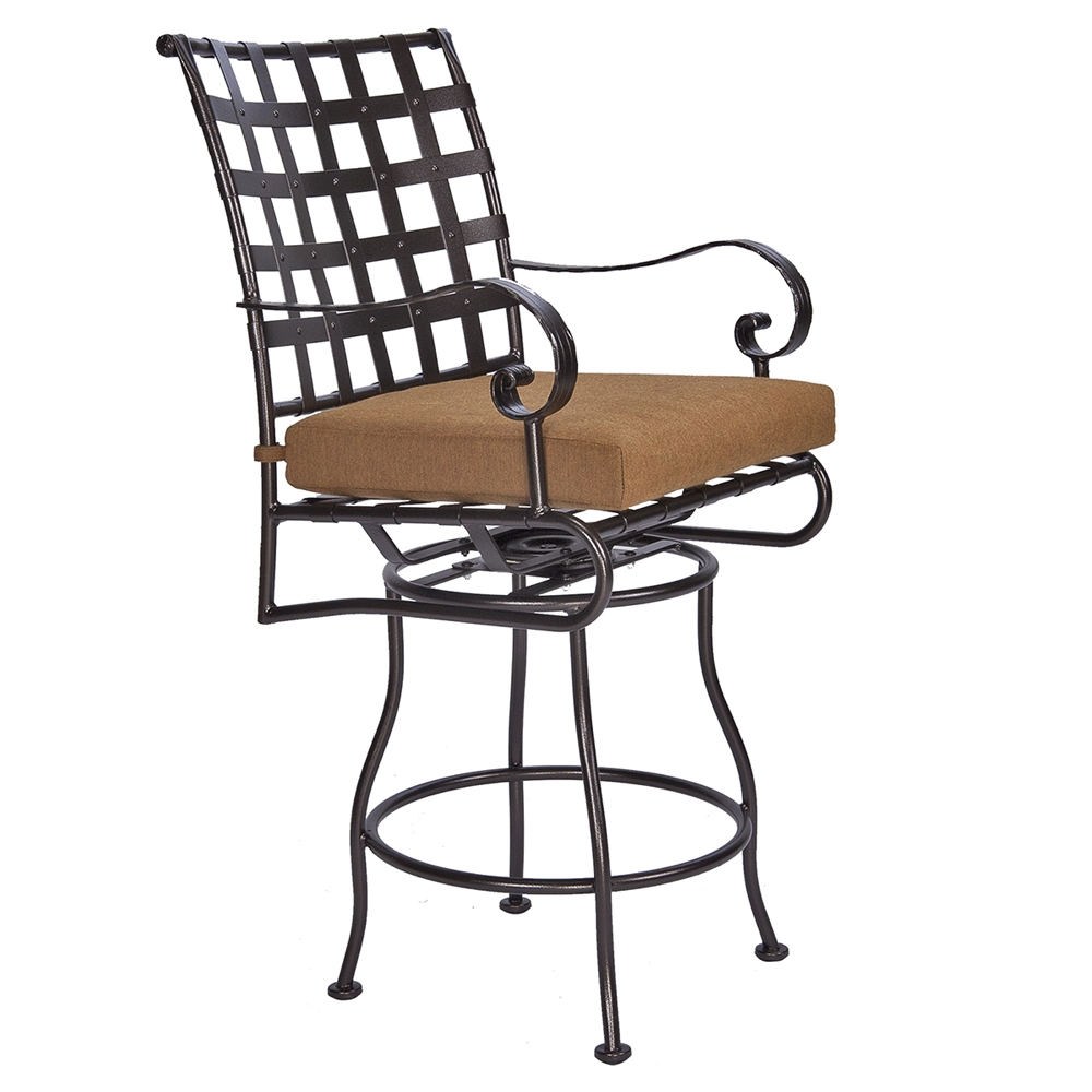 OW Lee Classico-W Swivel Counter Stool with Arms - 953-SCSW