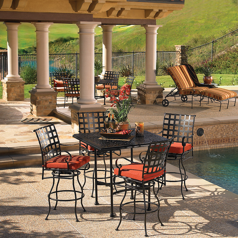 Polywood captain bar height bistro set pw
