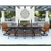 OW Lee Classico 10 Seat Dining Set w/Expanding Tile Top Table - 953AF-SRF-EXPTABLE