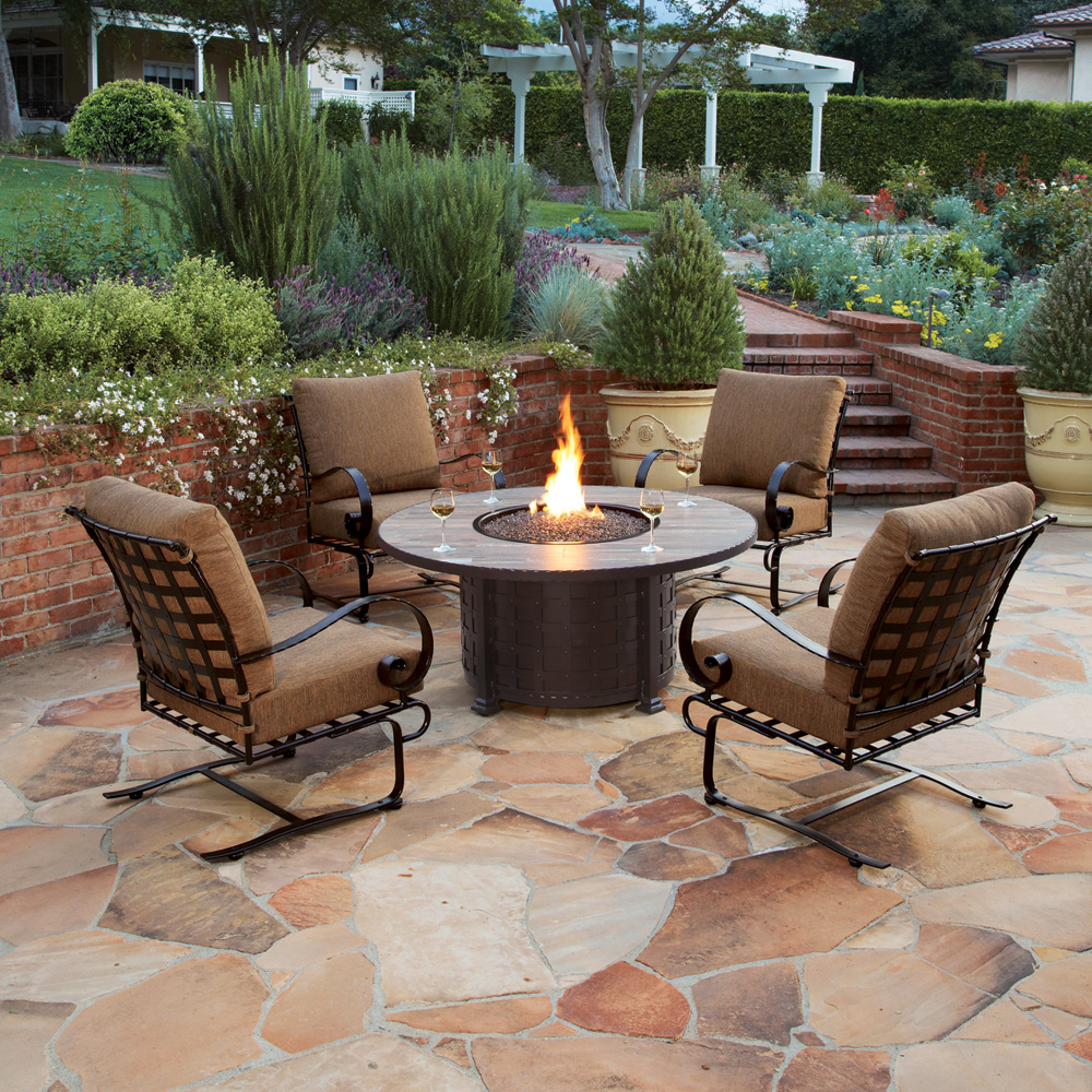 Ow Lee Classico 54 Quot Round Chat Height Fire Pit Table 51 10c