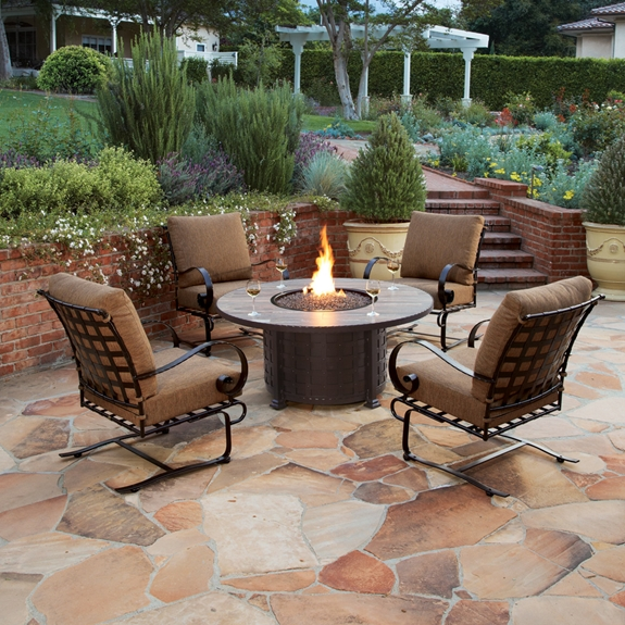 Ow Lee Classico W 5 Piece Fire Pit Chat Set Ow Classicow