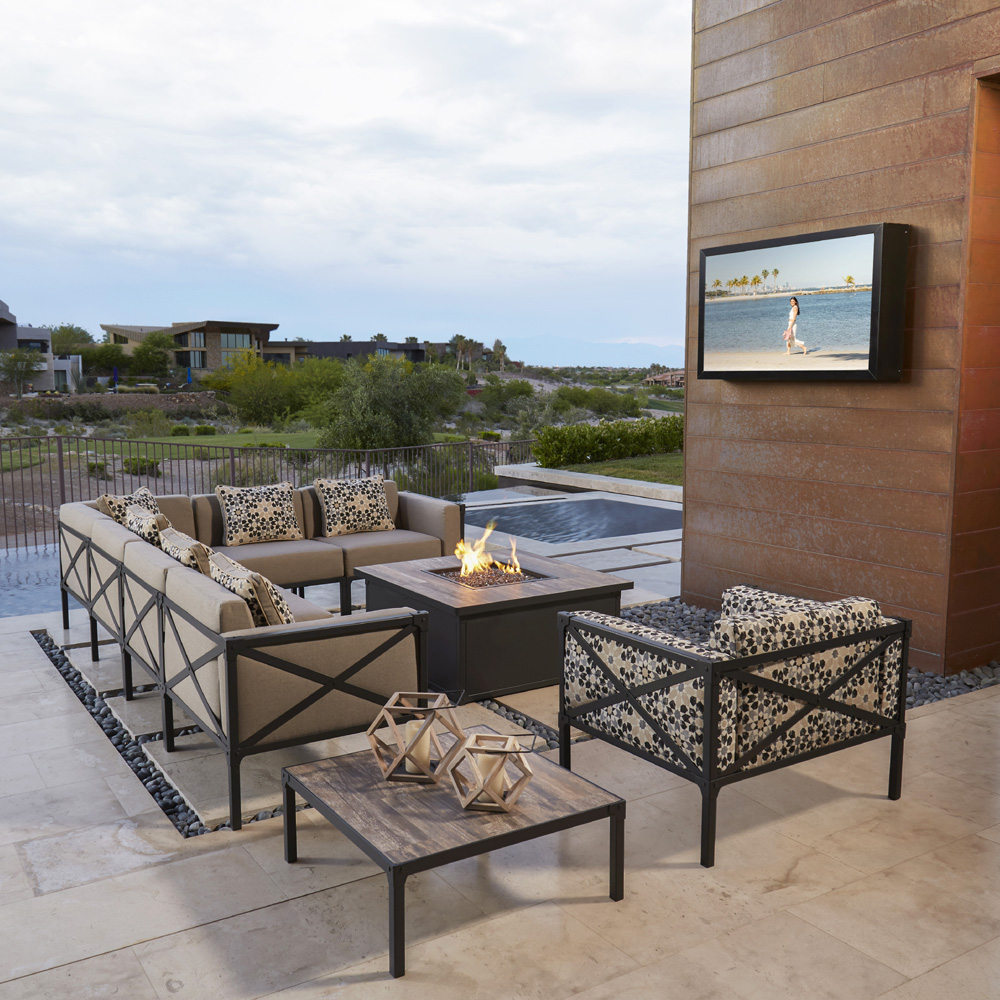 Ordinaire OW Lee Creighton L Sectional Steel Patio Set   OW CREIGHTON SET1