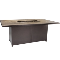 "OW Lee Elba 42"" x 72"" Dining Height Fire Table - 5122-4272D"