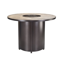 "OW Lee Elba 54"" Round Counter Height Fire Table - 5122-54RDK"