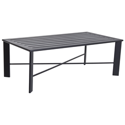 Gios Aluminum Slatted Top Coffee Table - 45-2850OT