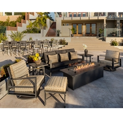 OW Lee Gios Modern Fire Pit Patio Set - OW-GIOS-SET5