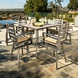 OW Lee Gios 5 Piece Modern Patio Bar Set - OW-GIOS-SET6