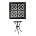 OW Lee 24 inch Square Hacienda Cast Top Bistro Table - A-24SQB-DT01-BASE