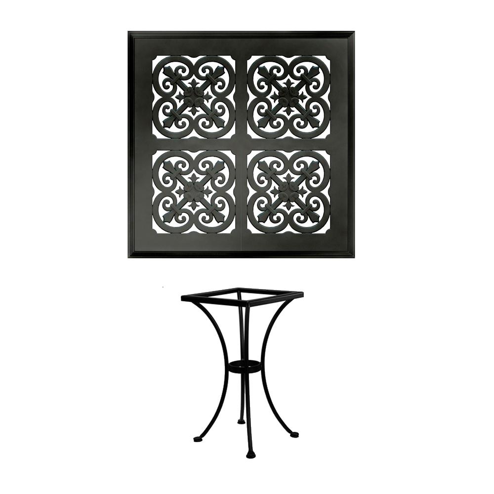 OW Lee 24 Inch Square Hacienda Cast Top Bistro Table   A 24SQB DT01 ...