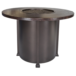 "OW Lee 54"" Round Counter Height Hammered Copper Fire Table - 5130-54RDK"