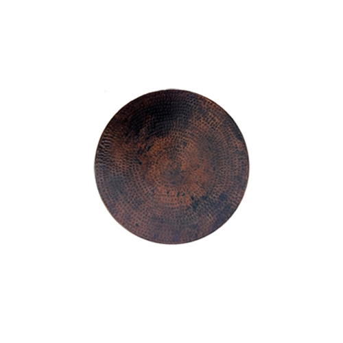"Hammered Copper 24"" round Table Top"
