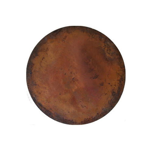 OW Lee Hammered Copper 42 inch round Table Top - CP-42