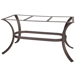 OW Lee Hammered Iron Rectangular Dining Table Base - HI-DT07