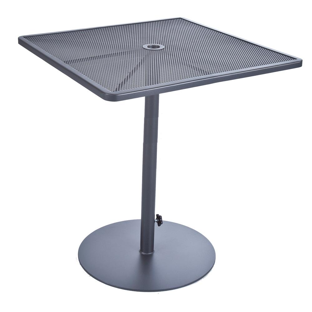 OW Lee Lennox Square Bar Table With Pedestal Base BTSQ - Square pedestal pub table