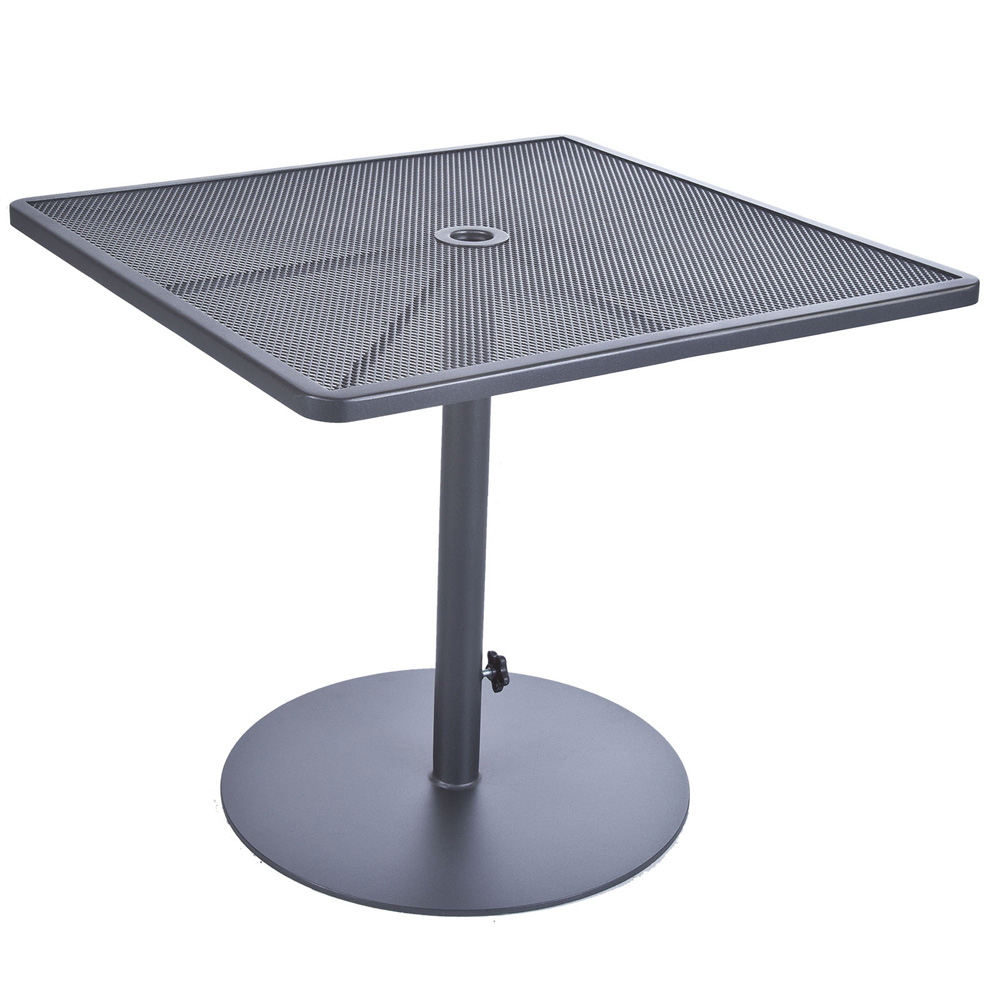 OW Lee 34 Inch Square Pedestal Dining Table with Umbrella Hole - 39-DT34SQ