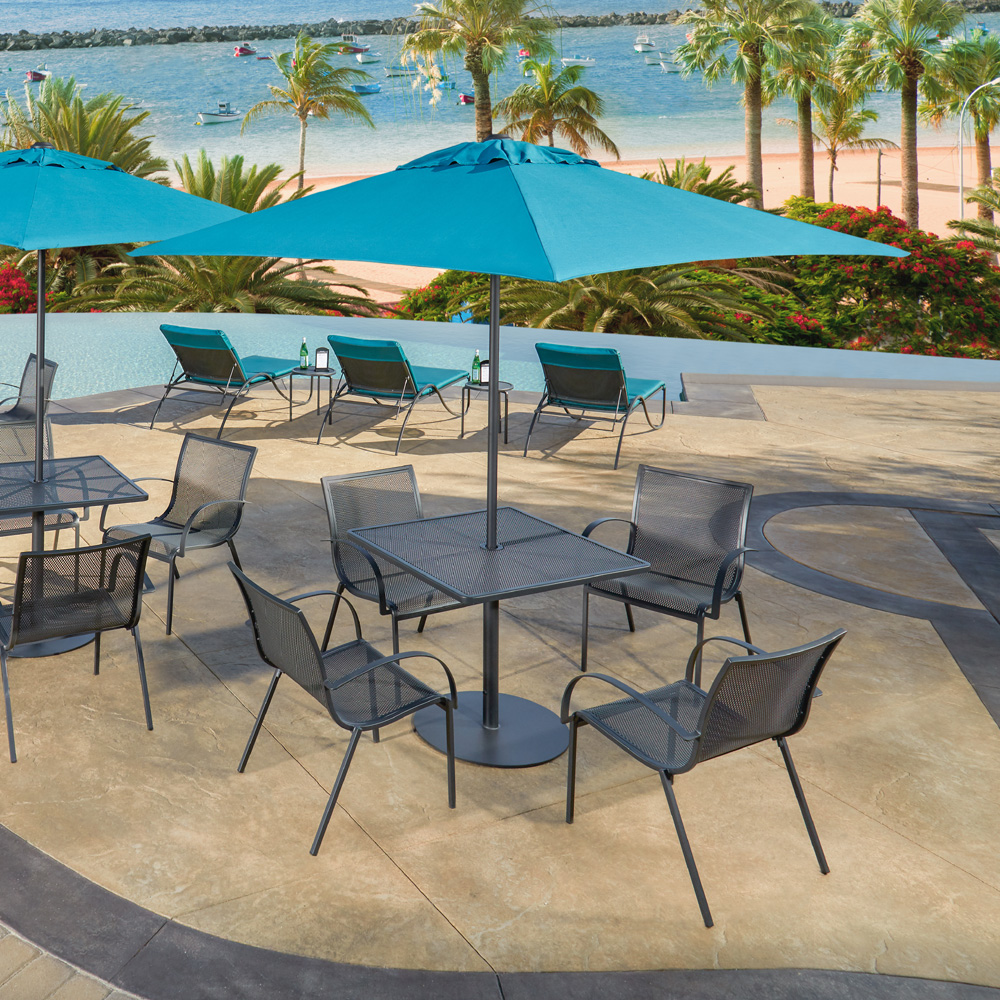 OW Lee Lennox Steel Patio Dining Set - OW-LENNOX-SET1