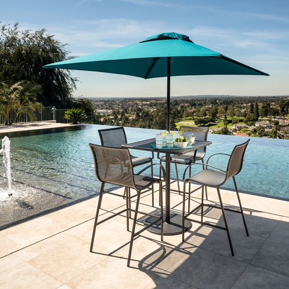 OW Lee Lennox Modern Steel Patio Bar Set - OW-LENNOX-SET4