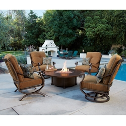 OW Lee Luna Lounge Chair Fire Pit Set - OW-LUNA-SET2