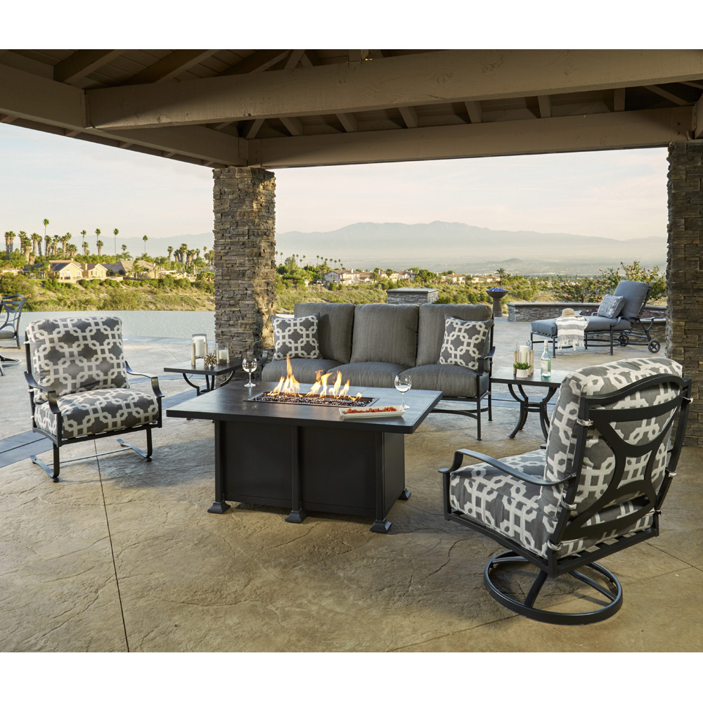 Ow Lee Madison Patio Sofa Set With Fire Table Set5