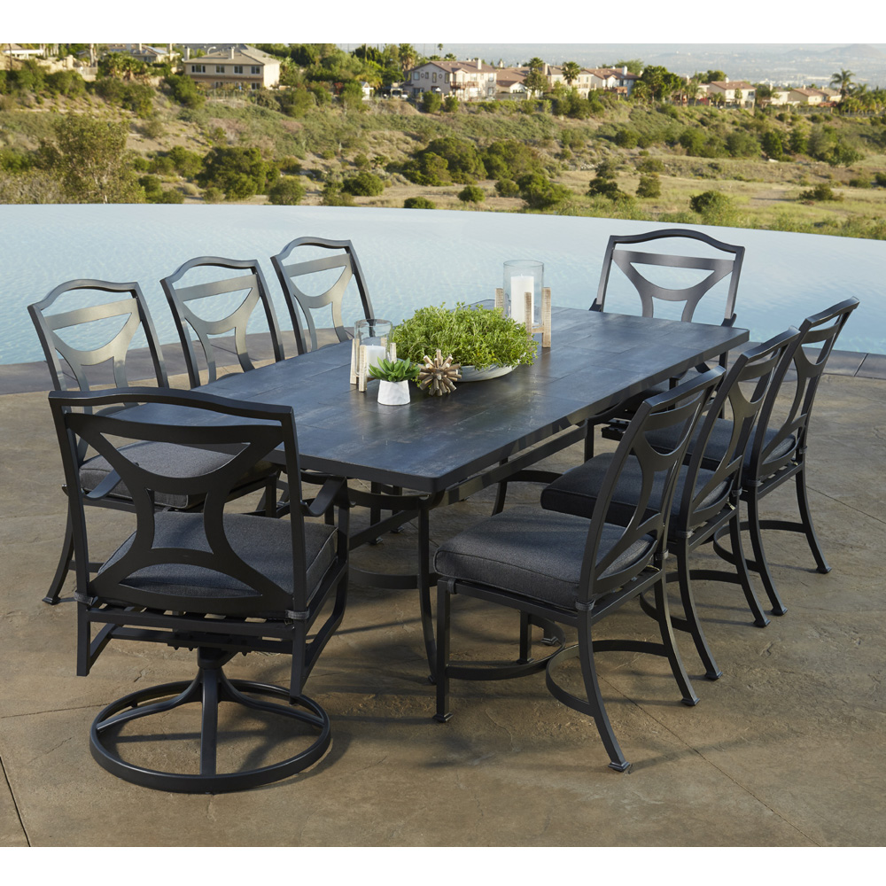 OW Lee Madison Outdoor Dining Set for 8 | OW-MADISON-SET6