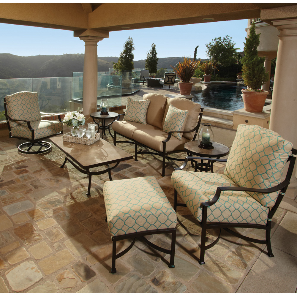 Lounge Liege Outdoor Style | Ow Lee Madison 7 Piece Patio Set Ow Madison Set3