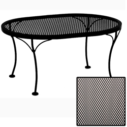 OW Lee Micro Mesh Oval Coffee Table - 2434-OVMMOT