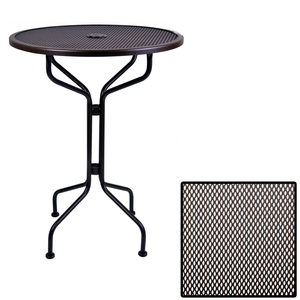 OW Lee 30 inch round Micro Mesh Bar Table - 30-MMBT