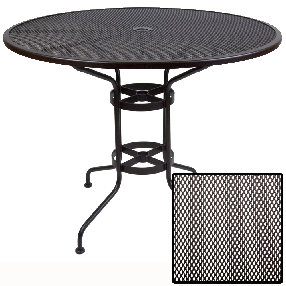 OW Lee Micro Mesh 48 inch round Bar Table - 48-MMBTU