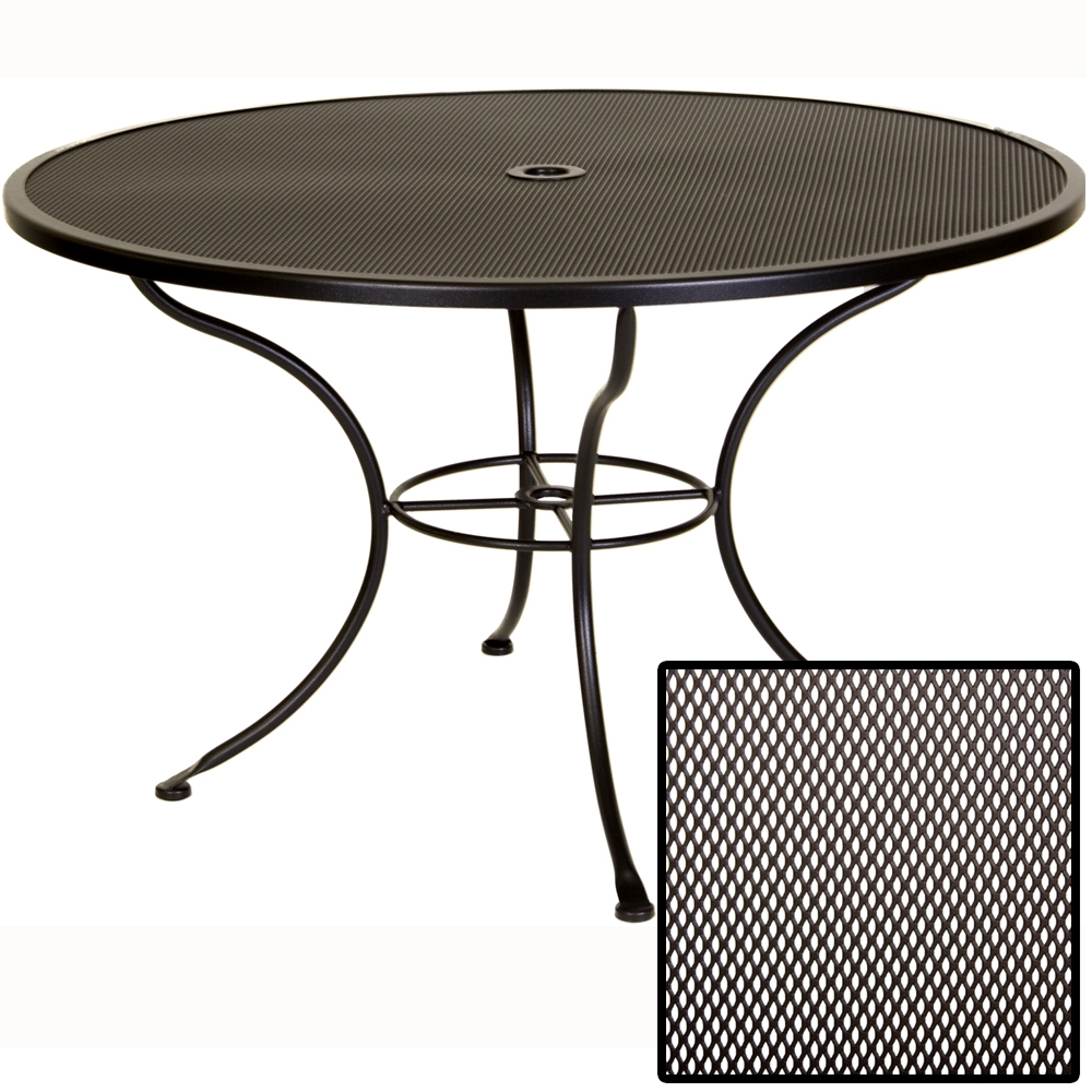 OW Lee Micro Mesh 48 inch round Dining Table - 48-MMU