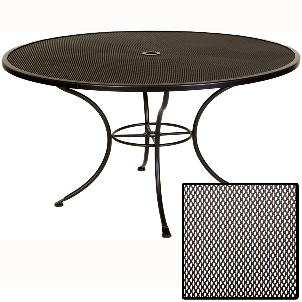 Ow Lee Micro Mesh 54 Inch Round Dining Table 54 Mmu