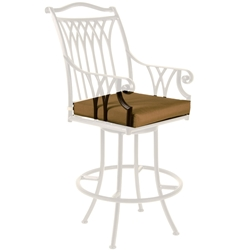 OW Lee Montrachet Swivel Bar Stool With Arms Cushion - OWC-1053-SBS