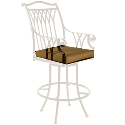OW Lee Montrachet Swivel Counter Stool With Arms Cushion - OWC-1053-SCS