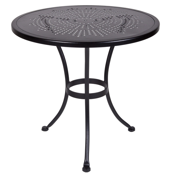 OW Lee Bistro Inch Round Stamped Metal Dining Table SU - 30 inch round outdoor table