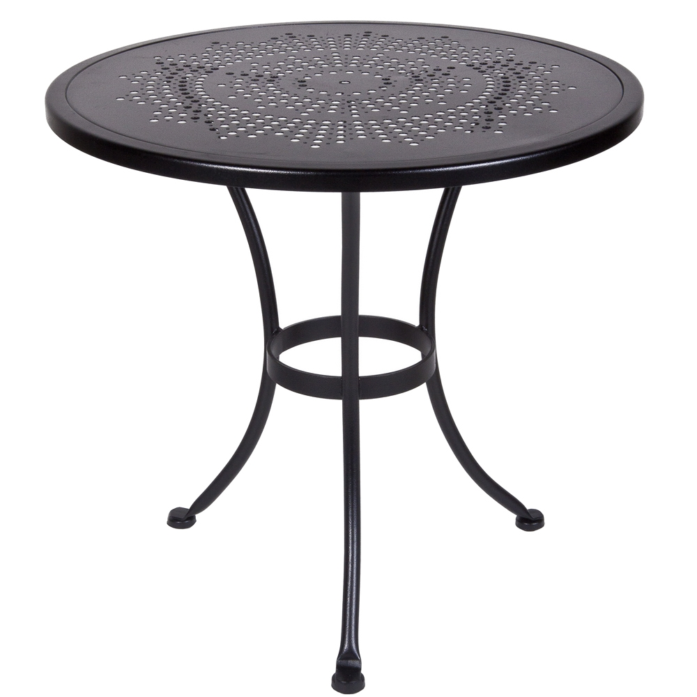 Lovely OW Lee Bistro 30 Inch Round Stamped Metal Dining Table   30 SU