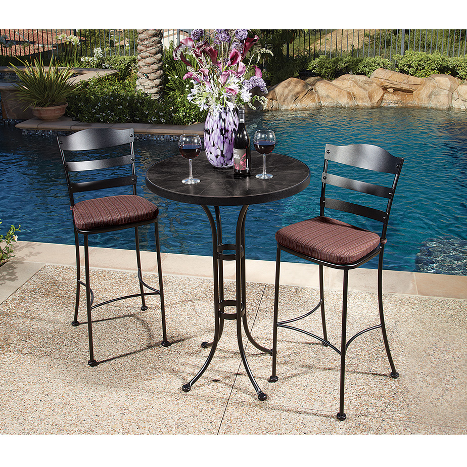 OW Lee Chalet Outdoor Bistro Bar Table Set - OW-BISTRO-CHALET-SET2 & Bar and Counter Height Furniture | USA Outdoor Furniture