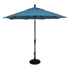 OW Lee 9 Foot Collar Tilt Market Umbrella with Black Frame - U-9MK