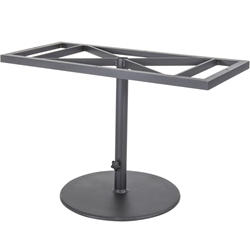 OW Lee Pedestal Dining Table Base For Rectangle Tops with Umbrella Base - 39-DT05