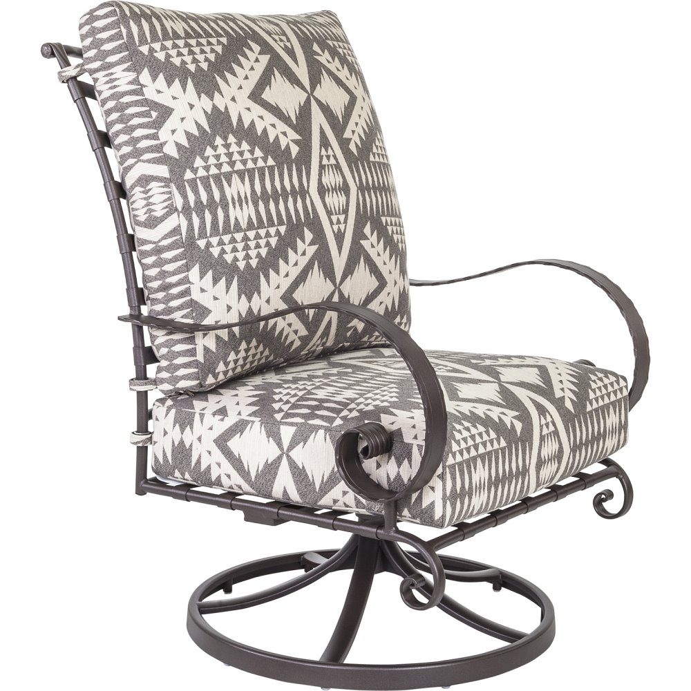 OW Lee Pendleton Classico-W Hi-Back Swivel Rocker Lounge Chair - PD937-SRW