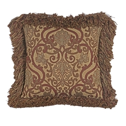 OW Lee 19 inch Square Throw Pillow with Decorative Trim - TP-1919W