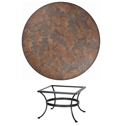 OW Lee 42 inch Round Porcelain Tile Top Chat Table - P-42-LT03-BASE