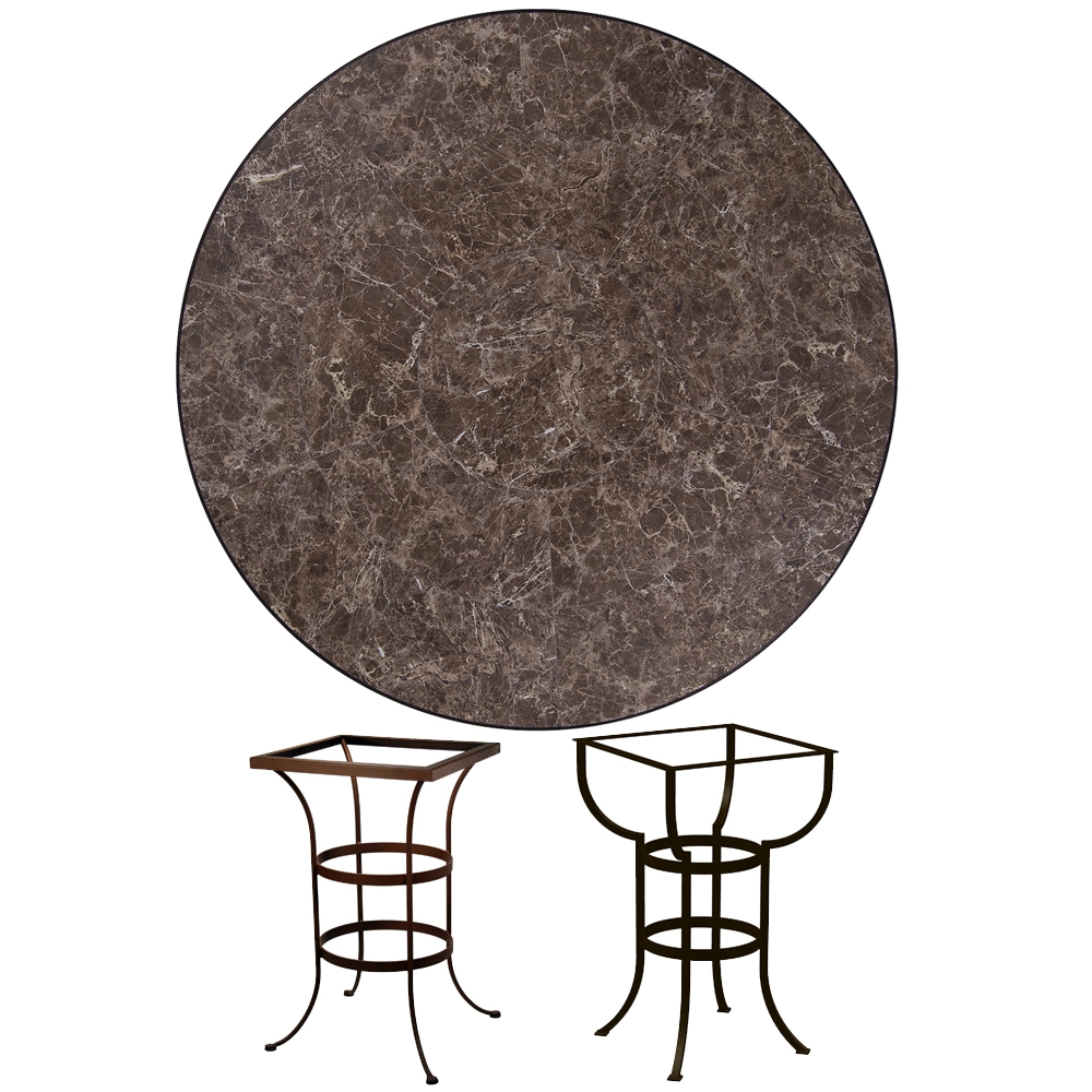 Ow Lee 48 Inch Round Porcelain Tile Top Counter Table P