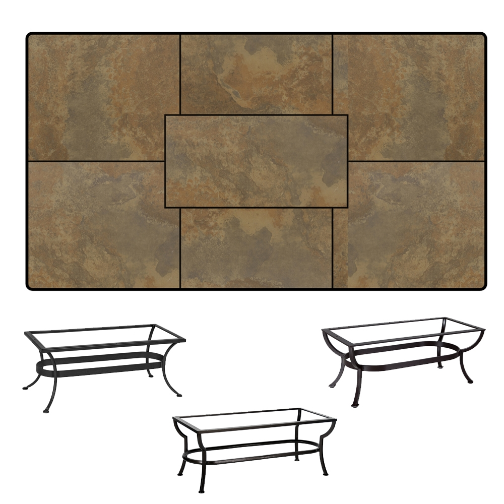 OW Lee Rectangle Porcelain Tile Top Coffee Table - P2850RT-XX-OT05