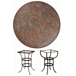 OW Lee 42 inch Round Porcelain Tile Top Counter Table - P42-CT03