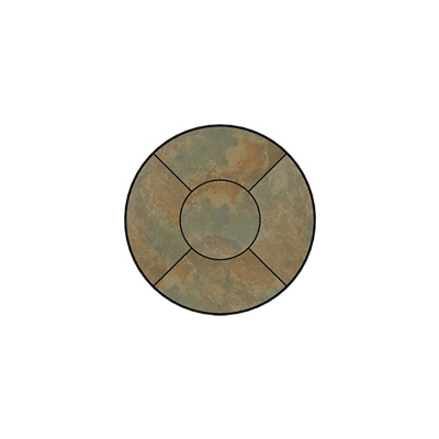 OW Lee Fresco Series 30 inch round Porcelain Tile Top - P-30