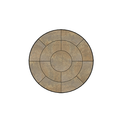 OW Lee Fresco Series 42 inch round Porcelain Tile Top - P-42