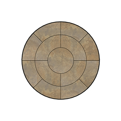 OW Lee Fresco Series 54 inch round Porcelain Tile Top - P-54
